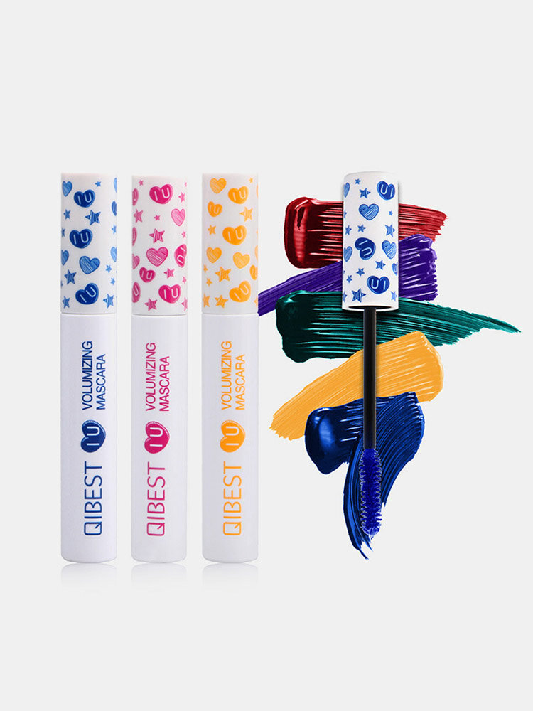 3D Colorful Mascara Long Curling Thick Silky Waterproof Lasting Eyelash Extension Beauty Makeup