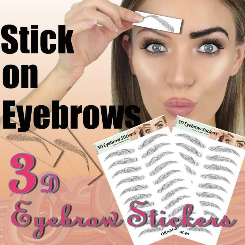 3D髪のような眉毛メイク防水持続的な眉毛タトゥーステッカー眉ステッカー偽眉毛