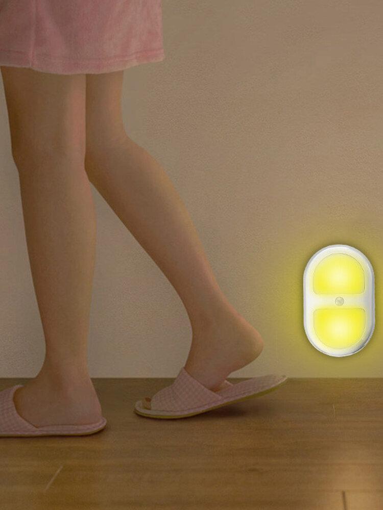 8 LED Night Light Wireless Motion Detector Wall Bathroom Bowl Seat Cabinet Light