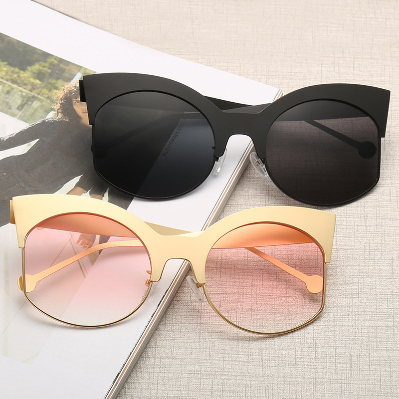 Women Metal Frame High Definition Anti-Vertigo Sunglasses Outdoor Fashion Anti-UV Eye Glasses