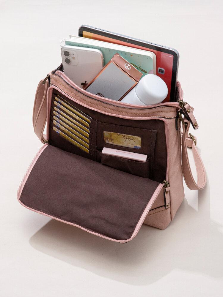 Mandy Women Multifunction Bag Solid Casual Crossbody Bag
