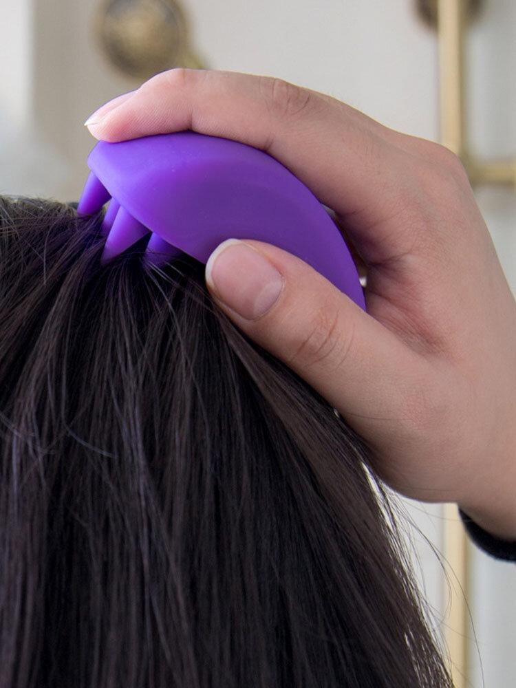 Silicone Massage Shampoo Brush Massage Scalp Clear Meridian Comb