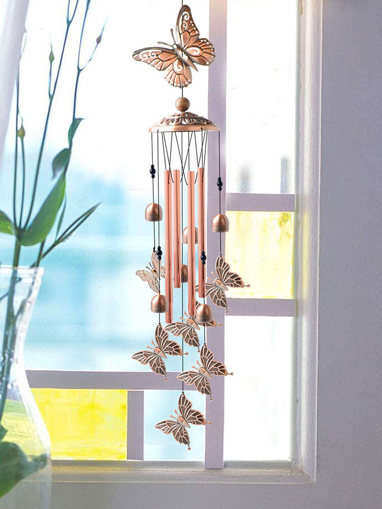 1PC Butterfly Antique Wind Chimes Hanging Ornament Home Outdoor Garden Yard Decor With Hook