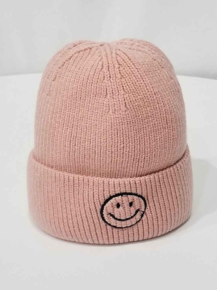 Short Knit Woolen Cap Skull Caps Cold Cap Thin Section
