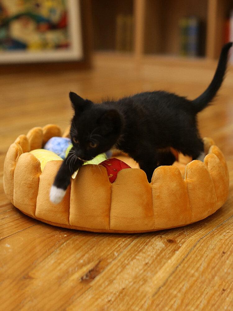 ペット犬猫フルーツプレート卵タルトパッドマット子犬フルーツベッドフルーツおもちゃ