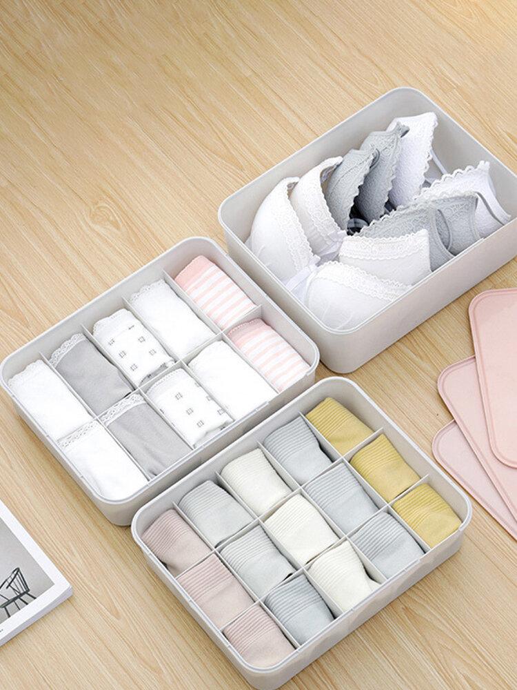 Household With Logo Underwear Storage Box With Cover Underwear Bra Compartment Underwear Storage
