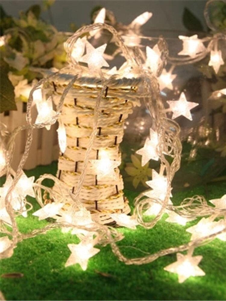 KCASA DSL-6 Gardening 5M 40LED String Light Star Shape Holiday Garden Party Wedding Decoration