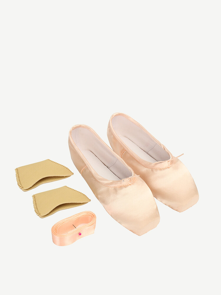 Pink Lace Up Strappy Ballet Flat Dance Shoes For Women