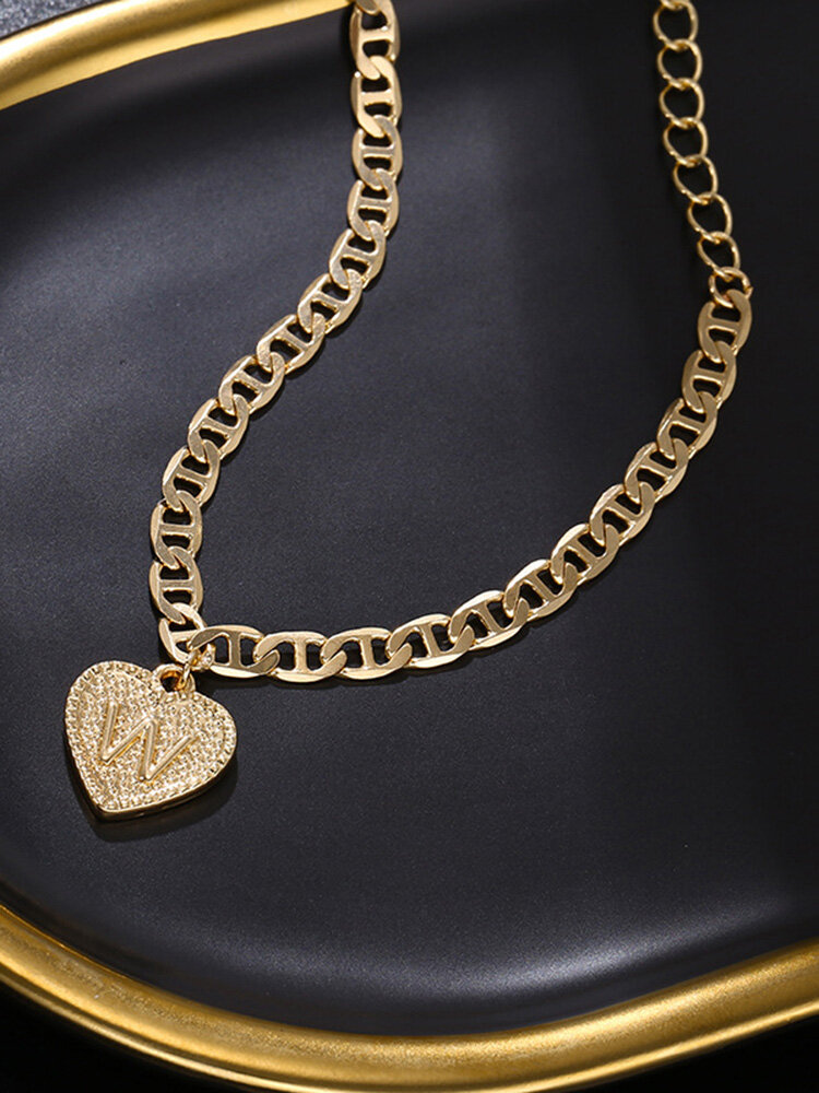 Luxury 26 English Letters Women Anklet Wild Heart Pendant Anklet Jewelry Gift