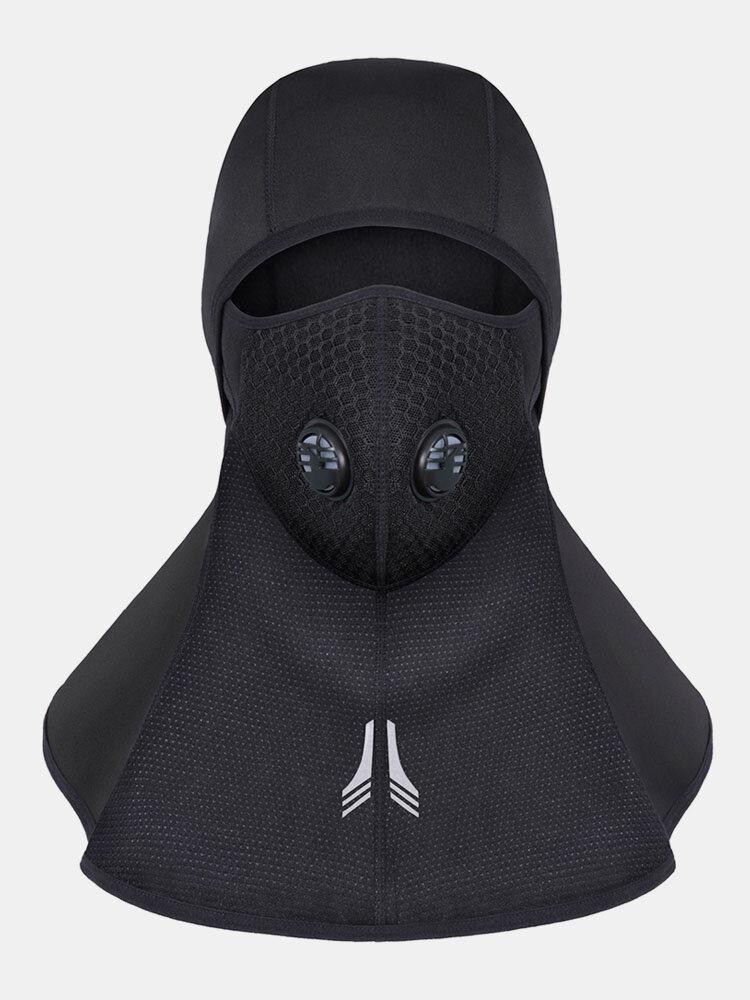 メンズ厚い冬のフェイスネック暖かい通気性防水防風屋外スキー乗馬フェイスマスクキャップ