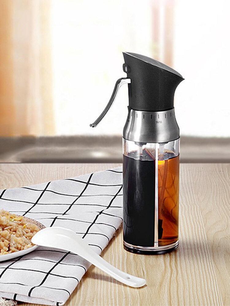 Dust-Proof Adjustable Spray Seasoning Oil Pot Castor Metering Oil Can Leak-proof Seasoning Bottle