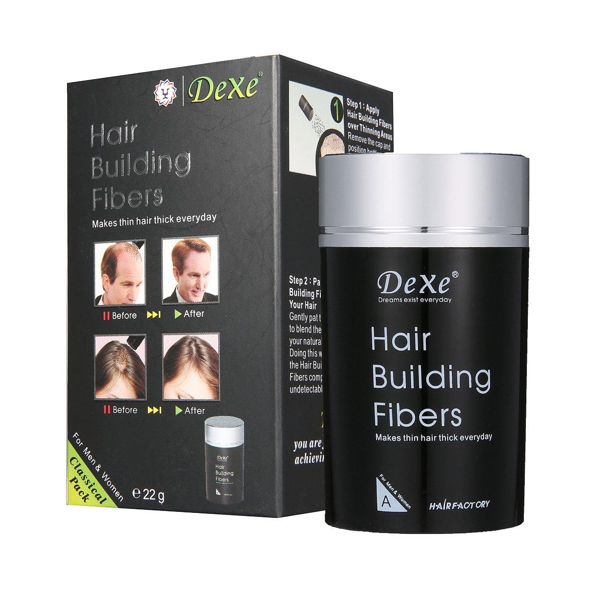 Hair Building Fibers Black Makes Hair Thick Growth Powder