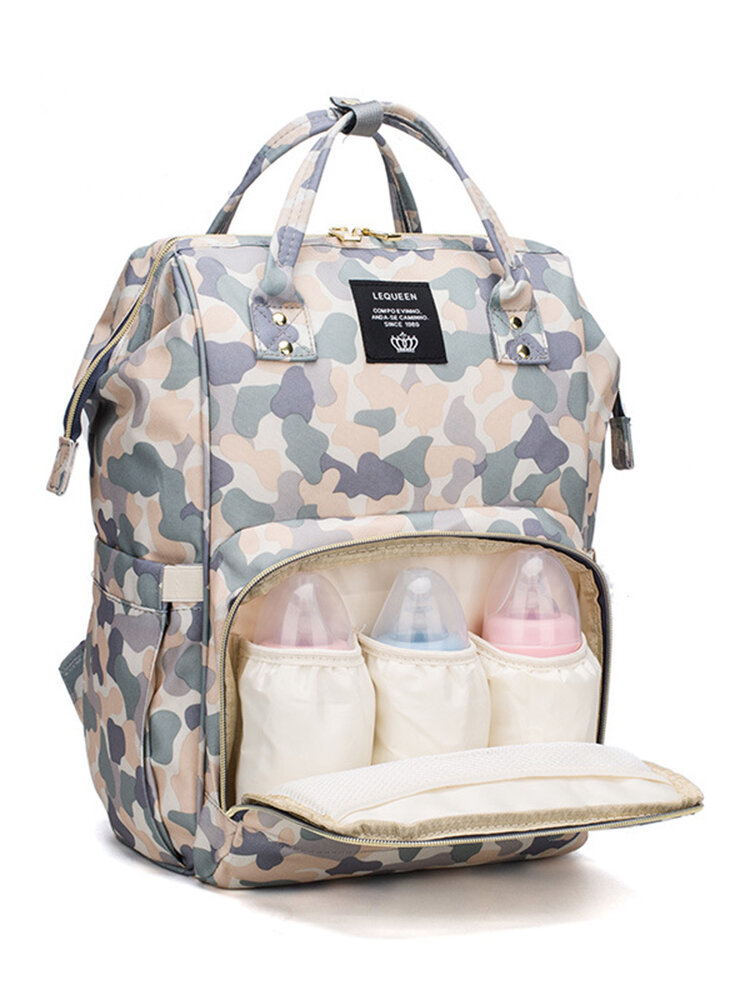 Camouflage pattern Baby Diaper Nappy Backpack Large Capacity Waterproof Nappy Mother Organizer