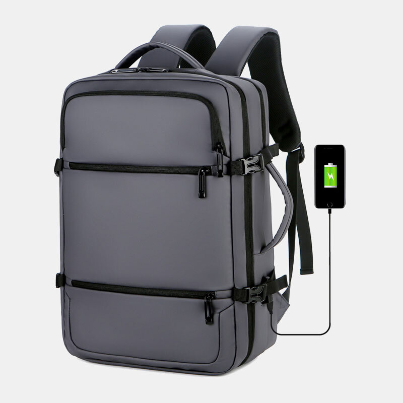 Men Business USB Charging Large Capacity Multi-pocket Laptop Bag Travel Backpack