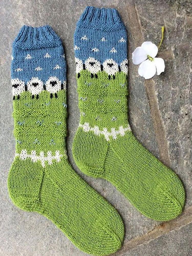 النساء الجوارب الاكريليك الجوارب الساق يخطو محبوك عيد الميلاد غطاء التمهيد الجوارب الطابق الخريف والشتاء الدافئة الاكريليك الجوارب