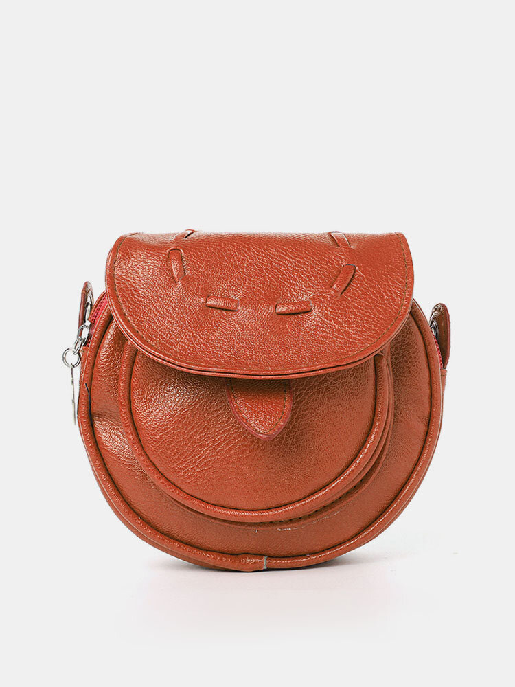 Casual Candy Color PU Leather Crossbody Bag