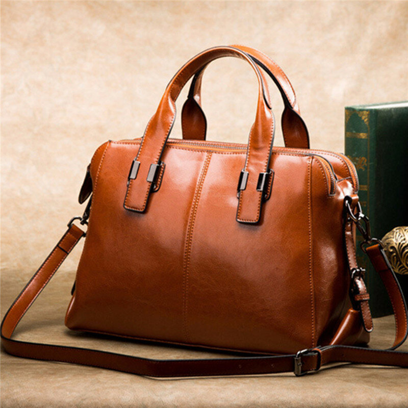 Women Genuine Leather Solid Shell Bags Handbags Crossbody Bags