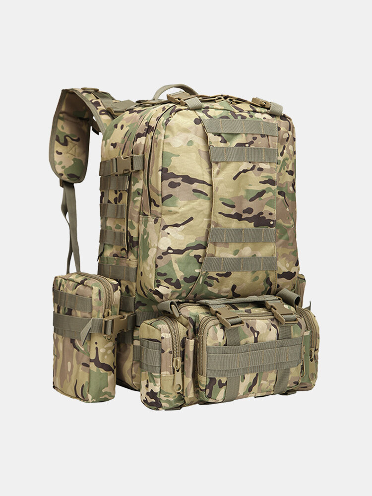 Men Outdoor Camo Pattern Printing 50L Large Capacity Multifunction Camping Backpack