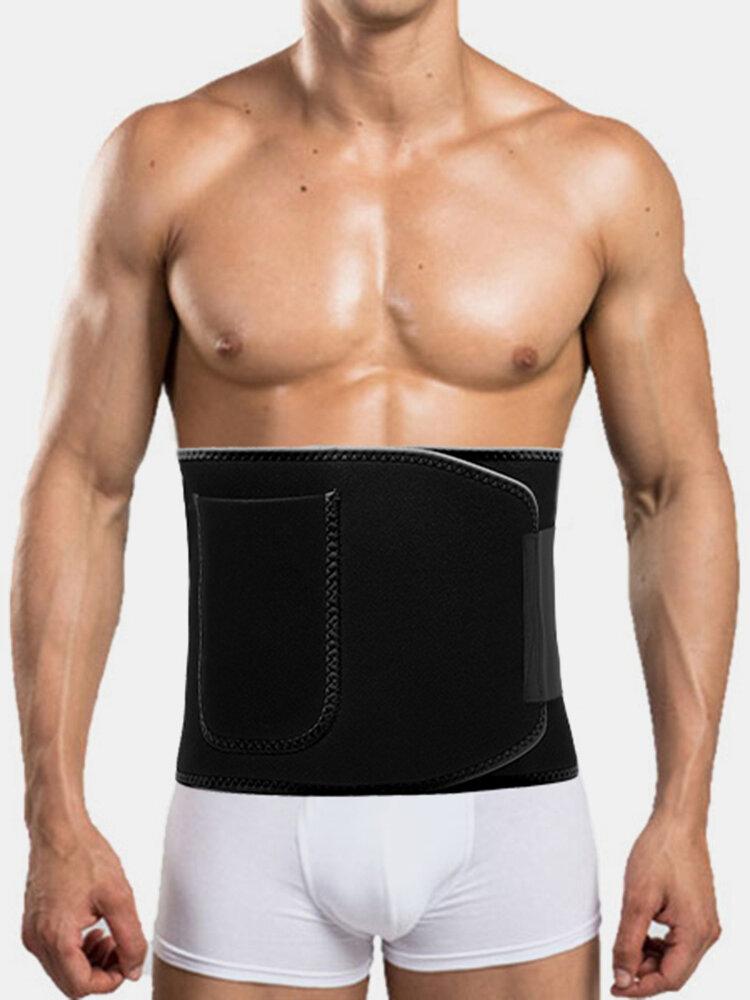 Men's Adjustable Waist Support High Elasticity Sport Fitness Lose Weight Body Shaper Belly Belt
