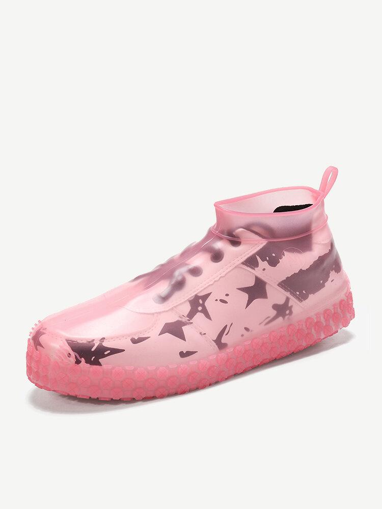 Women Waterproof Dustproof Shoes Protector Transparent Latex Non Slip Foot Cover
