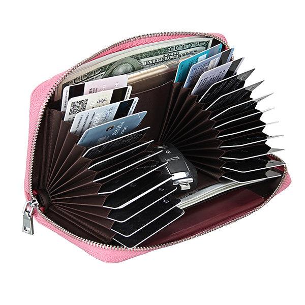 RFID Antimagnetic Genuine Leather Multi-Slots Phone Bag Clutch Bag Long Wallet For Women Men