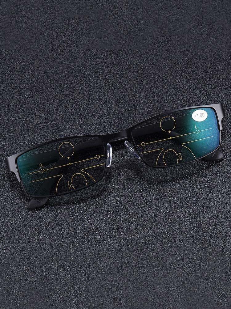 Lunettes de lecture presbytes multifocales progressives d'extérieur Lunettes à lentilles photochromiques Soins des yeux