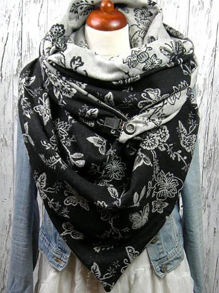 Sciarpa stampata donna scialle multiuso Collo Avvolgere sciarpa calda