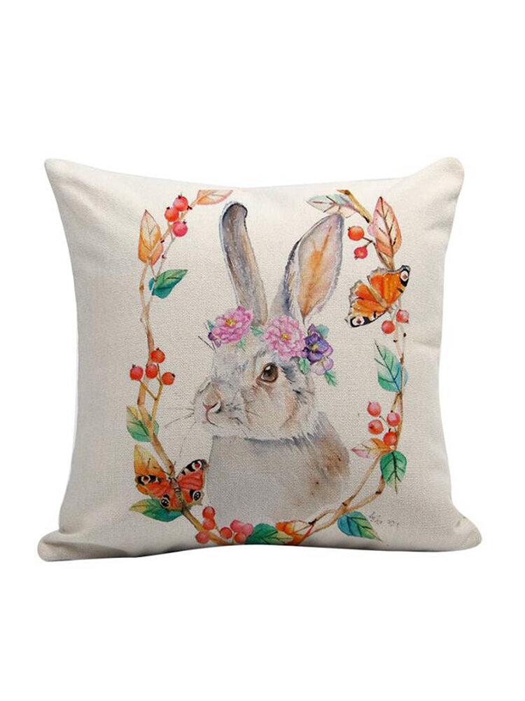 EASTER Rabbit Bunny Pillow Cover Cushion Case Home Summer Sofa Car Linen