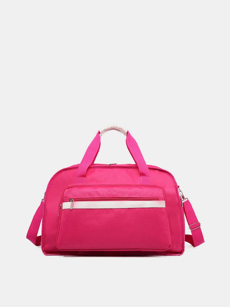 Casual Travel Waterproof Portable Storage Bag Luggage Bag Handbag Shoulder Bag