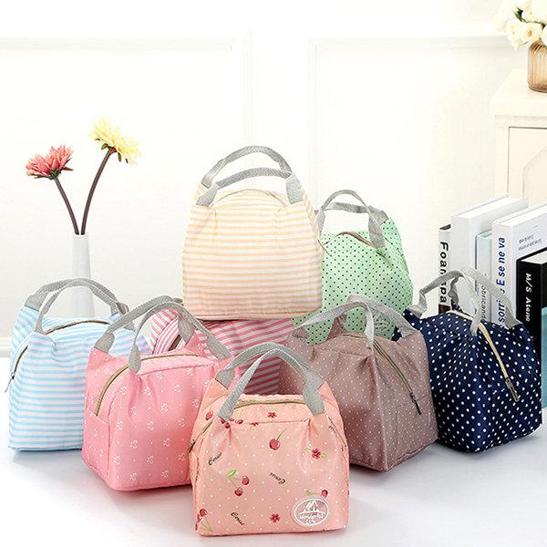 Women Cute Lunch Tote Bag Handbag Zipper Storage Waterproof Containers Picnic Pouch Bag