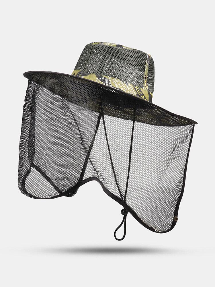 Men's Hiking Travel Sun Hat Outdoor Fishing Cap Breathable Mesh Gauze Casual Hat