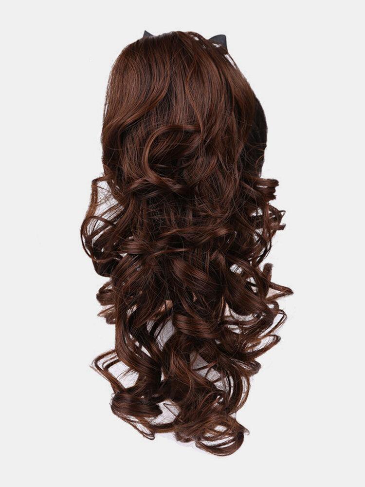 4 цвета длинное вьющееся волокно Парик повязки Волосы высокотемпературное