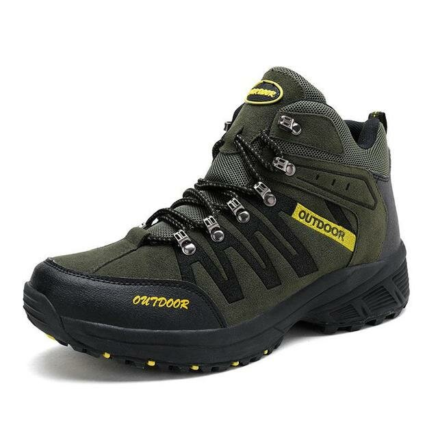 Men Casual Slip Resistance Hiking Thermal Cotton Shoes