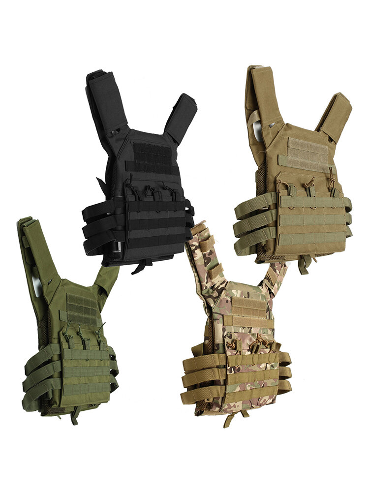 Lightweight  MOLLE Tactical Armor Plate Carrier JPC Vest w/ Mag Pouches