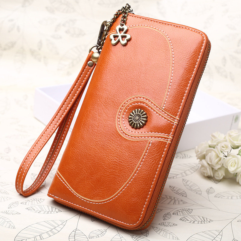 Women Retro Long Wallet PU Leather Clutch Bags Phone bag Card Holder Purse (SKU927963) photo
