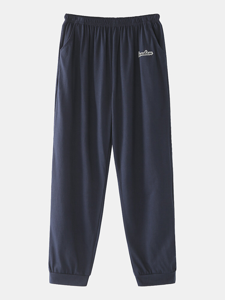 Mens Loungewear Pants Cotton Beam Foot Thin Comfortable Casual Home Trousers