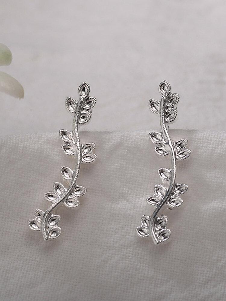 Classic Silver Gold Color Flower Earrings Ethnic Piercing Womens Flower Earrings
