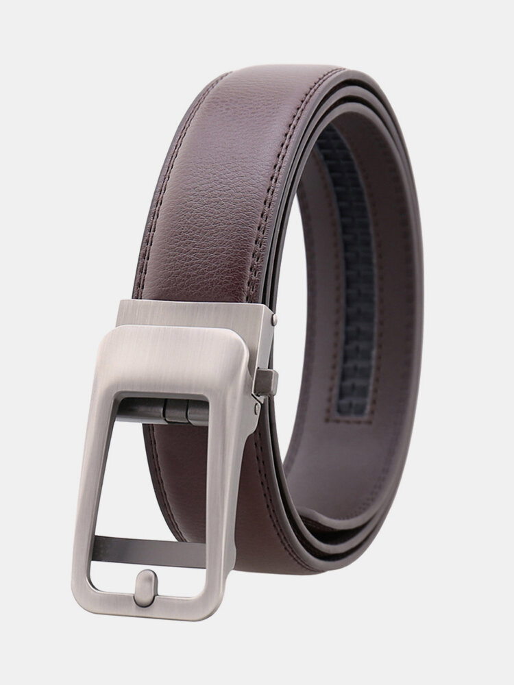 Men Fashion Automatic Buckle Second Layer Cowhide Belt High Quality Business Casual Wild Waistband