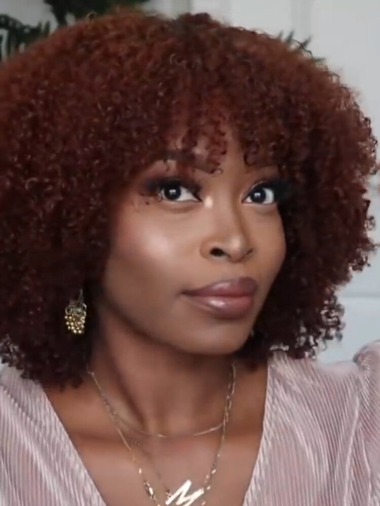 Afro Small Curly Women Short Curly Hair Explosion Head Chemical Fiber Full Head Cover Wig