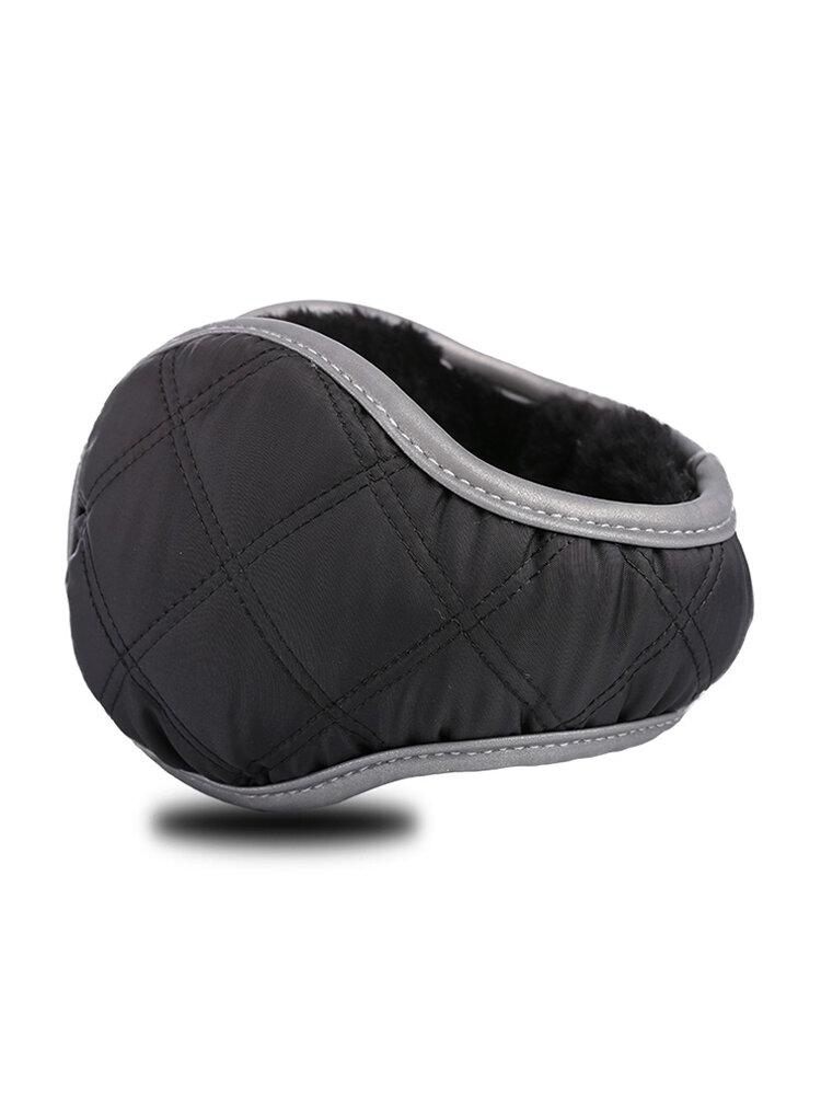 Men Women Winter Foldable Plus Cashmere Earflap Outdoor Windproof Back Wearing Warmer Earmuffs