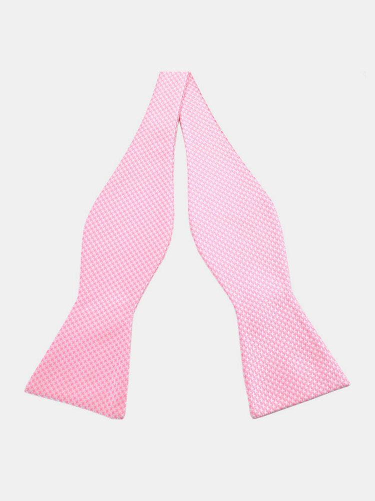 PenSee Gentleman Business Ties Self Bowties Casual Paisley Jacquard Woven Silk Neckties
