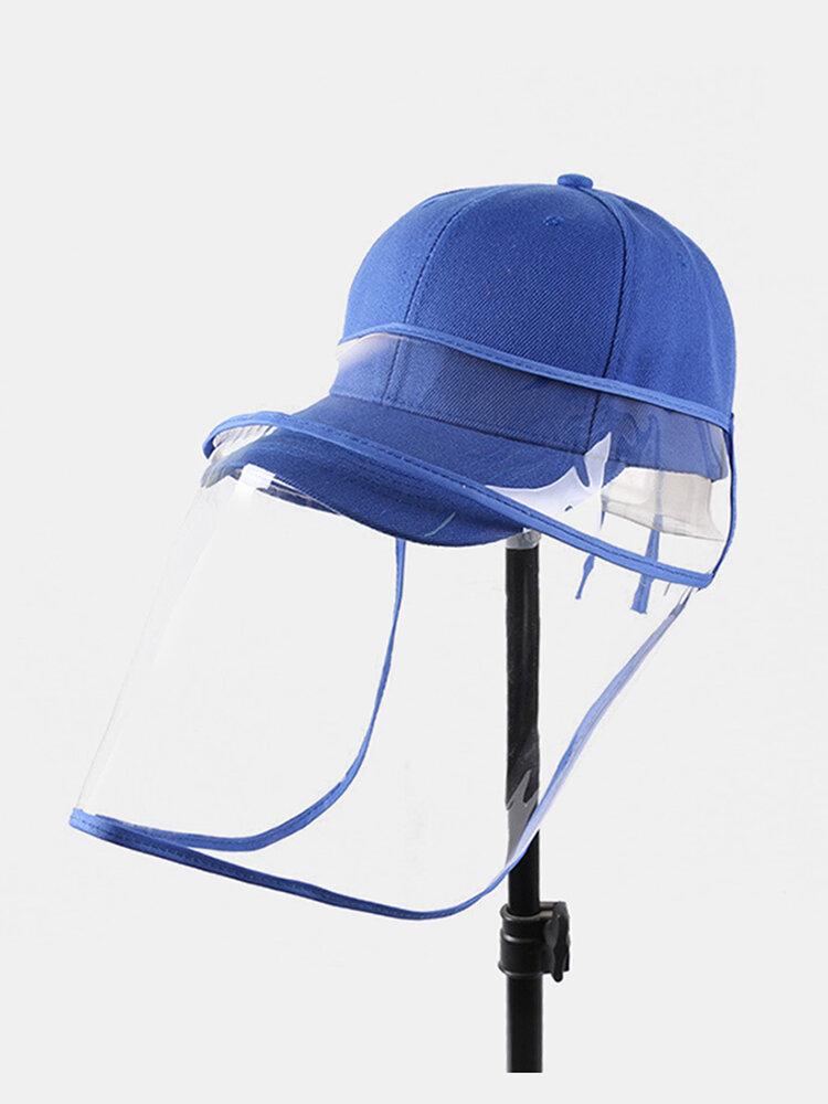 Unisex Dustproof Baseball Cap Removable Face Screen