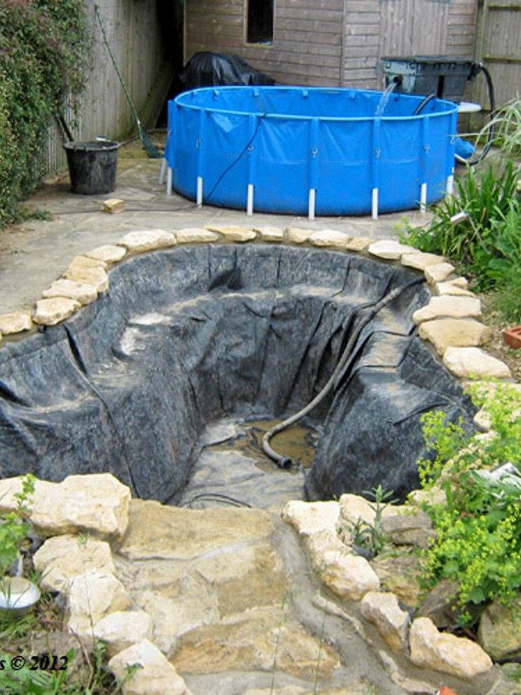 <US Instock>Membrana rinforzata in HDPE per piscine paesaggistiche di giardini durevoli per laghetti per pesci