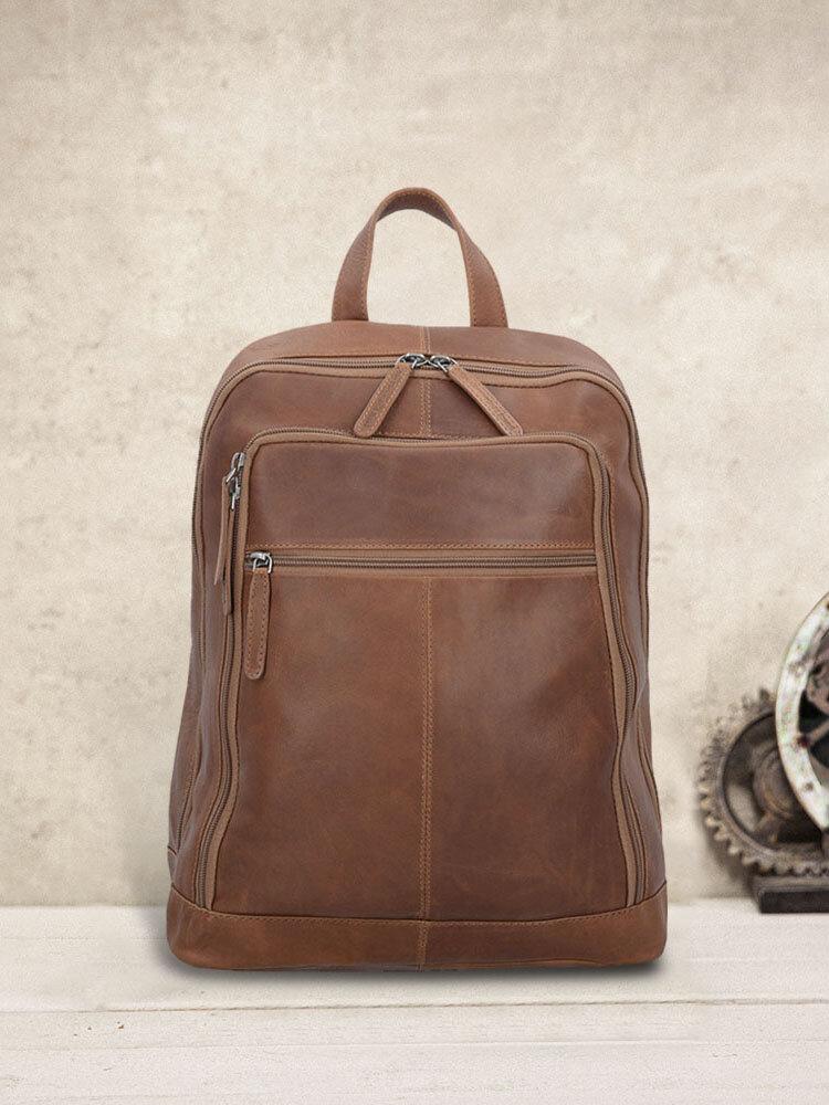 Men Vintage Casual Multifunction Laptop Backpack