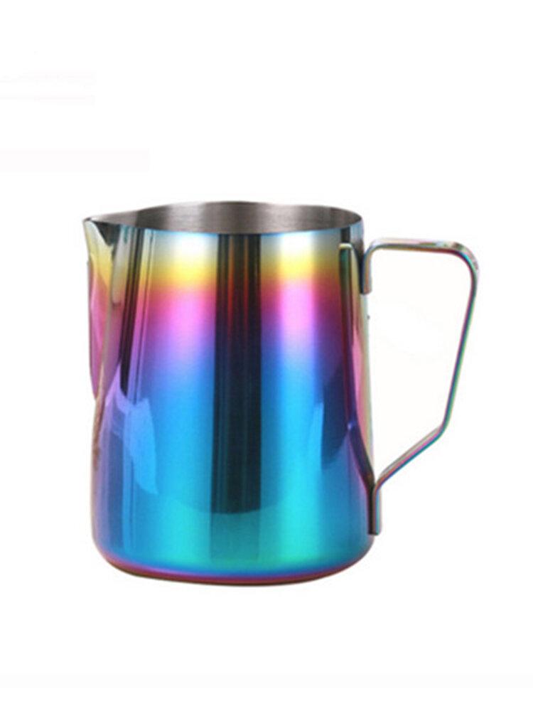 Цветочные горшки из нержавеющей стали Вытяните чашку для цветов чашка для молока Необычная кофейная чашка Посуда для кофе