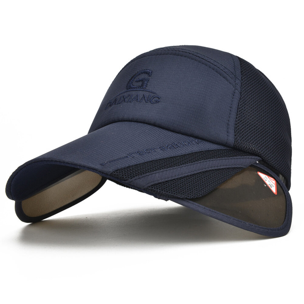 Womens Summer Outdoor Gardening Anti-UV Foldable Beach Sunscreen Sun Hat Big Brim Baseball Cap