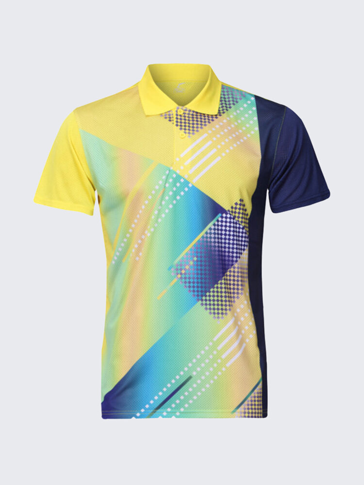 Summer Colorful Sports Gym T-shirts Slim Fit Short Sleeve Competitions T-shirt For Men