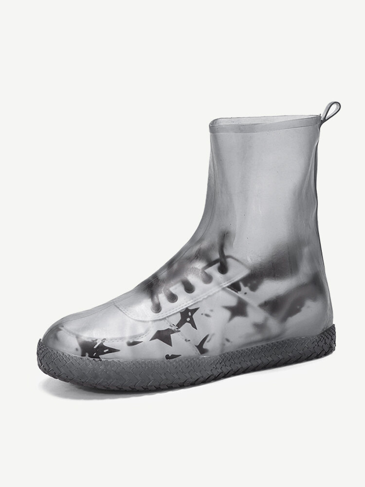 Women Outdoor Reusable Waterproof Slip Resistant Shoes Cover Protect