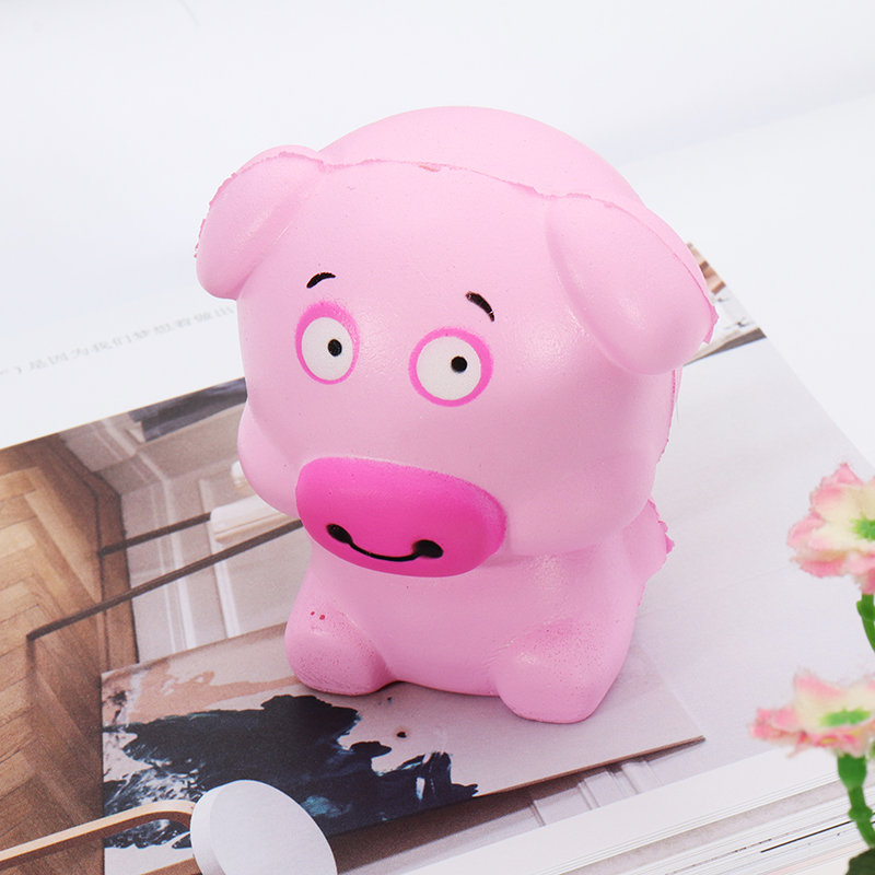 Cartoon Pig Squishy Slow Rising Soft Collection Gift Decor Toy Pendant