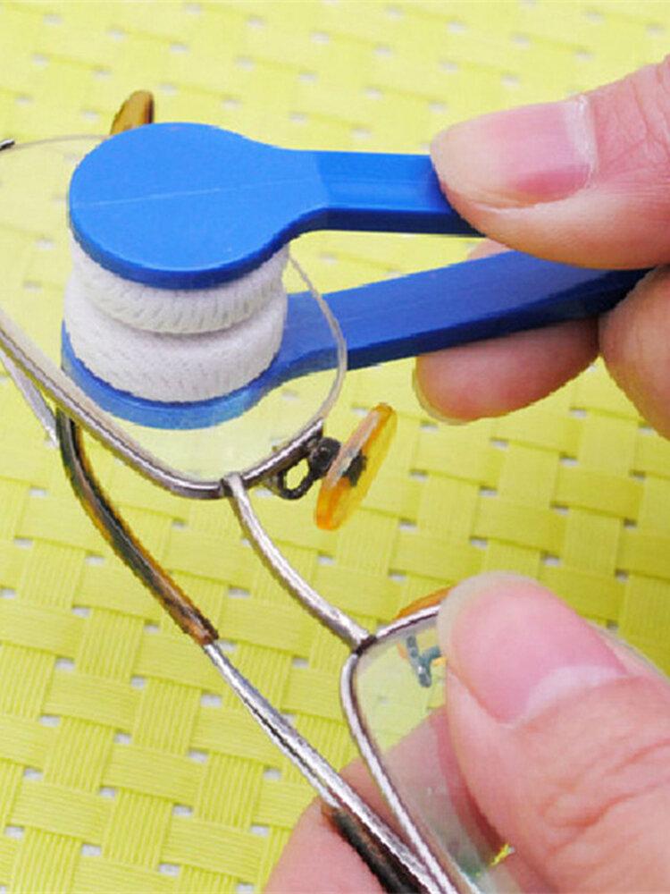 マイクロファイバーミニメガネクリーンブラシメガネクリーナー眼鏡クリーニングツール